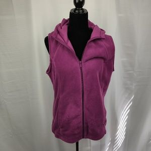 Columbia Purple Sleeveless Jacket with Hood Size L